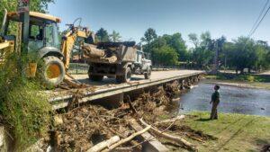 Obras Públicas: mantenimiento y arreglo de calles después de la tormenta